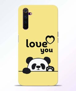 Love U Panda Realme 6 Back Cover