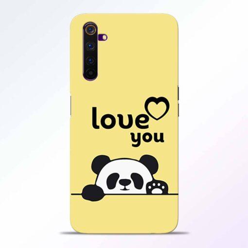 Love U Panda Realme 6 Pro Back Cover