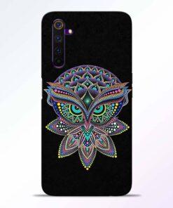 Mandala Owl Realme 6 Back Cover