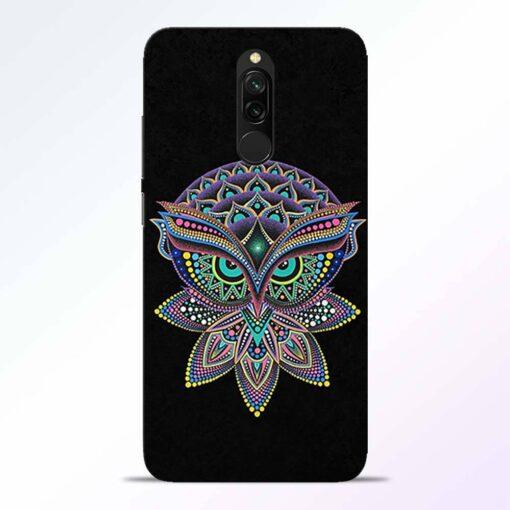 Mandala Owl Redmi 8 Back Cover