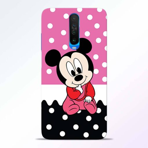 Mickey Baby Poco X2 Back Cover