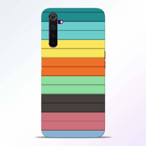 Multi Color Strap Realme 6 Back Cover