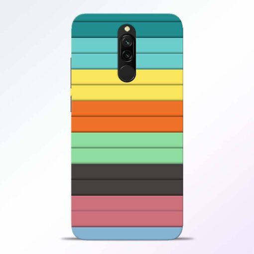 Multi Color Strap Redmi 8 Back Cover