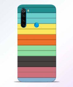 Multi Color Strap Redmi Note 8 Back Cover