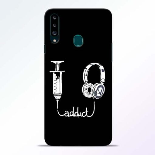 Music Addict Samsung Galaxy A20s Mobile Cover - CoversGap