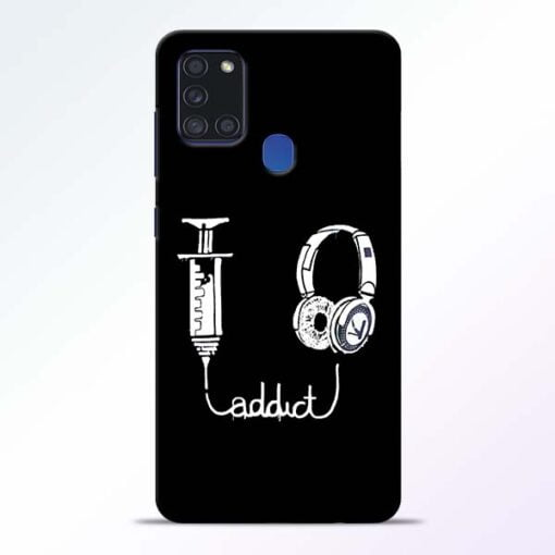 Music Addict Samsung Galaxy A21s Mobile Cover - CoversGap