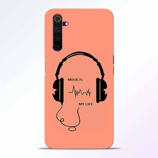 Music My Life Realme 6 Back Cover
