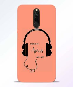 Music My Life Redmi 8 Back Cover