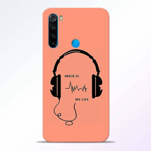 Music My Life Redmi Note 8 Back Cover