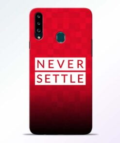 Never Settle Samsung Galaxy A20s Mobile Cover - CoversGap