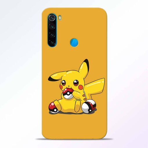 Pickachu Ball Redmi Note 8 Back Cover