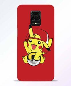 Pickachu Cap Redmi Note 9 Pro Back Cover