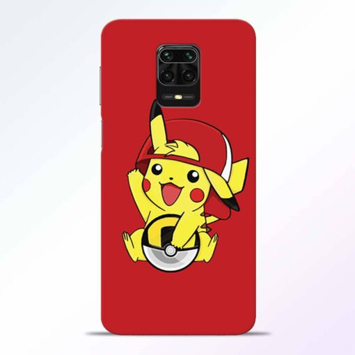 Pickachu Cap Redmi Note 9 Pro Back Cover