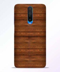 Pine Wood Poco X2 Back Cover