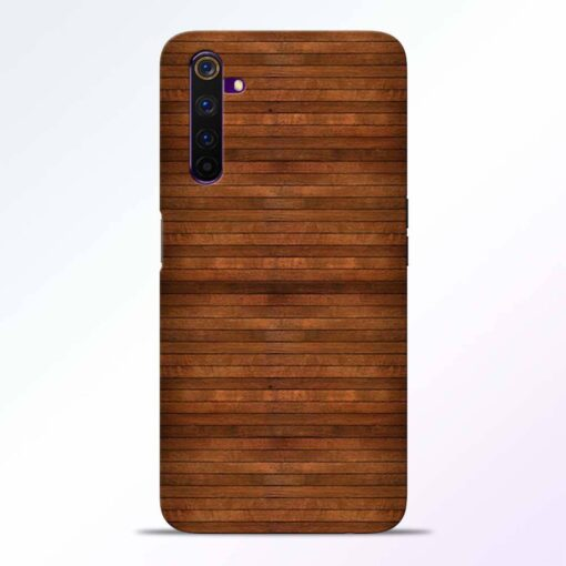 Pine Wood Realme 6 Pro Back Cover