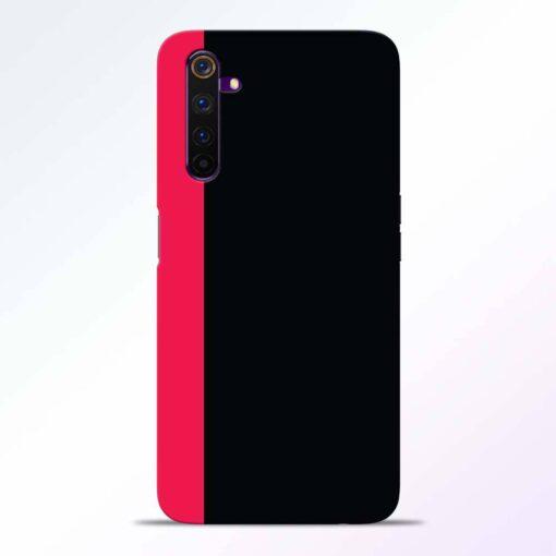 Pink Black Realme 6 Pro Back Cover