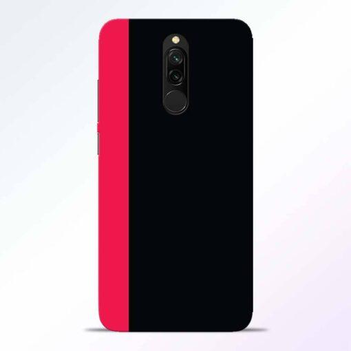 Pink Black Redmi 8 Back Cover