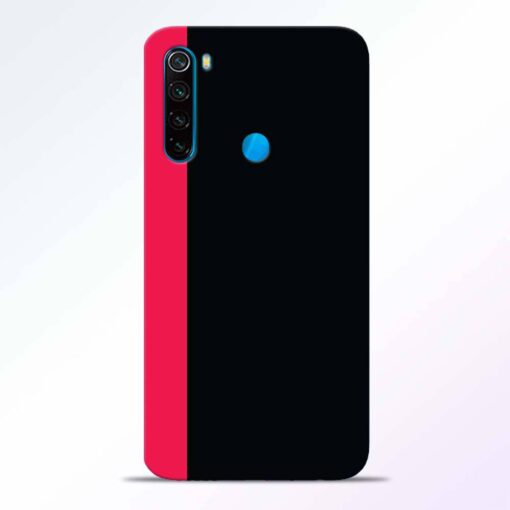 Pink Black Redmi Note 8 Back Cover