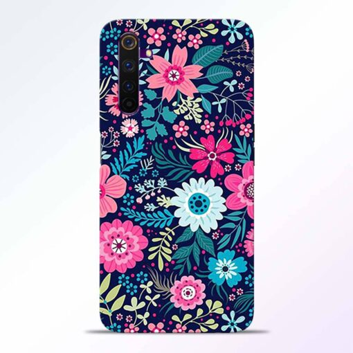 Pink Floral Realme 6 Back Cover