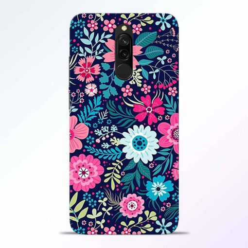 Pink Floral Redmi 8 Back Cover