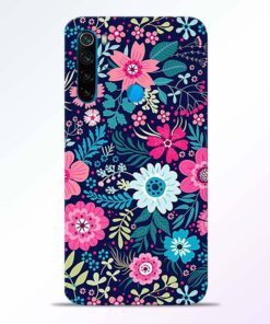 Pink Floral Redmi Note 8 Back Cover