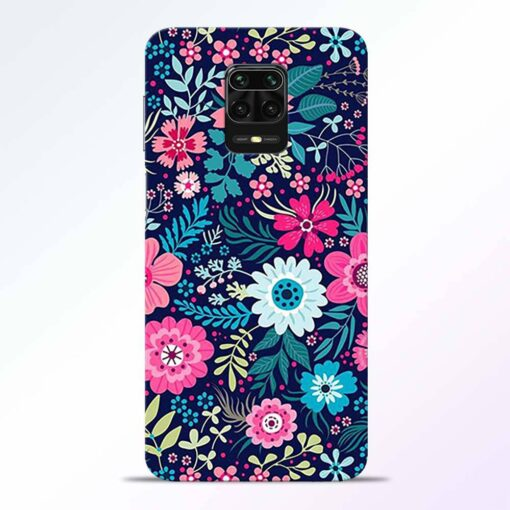 Pink Floral Redmi Note 9 Pro Back Cover