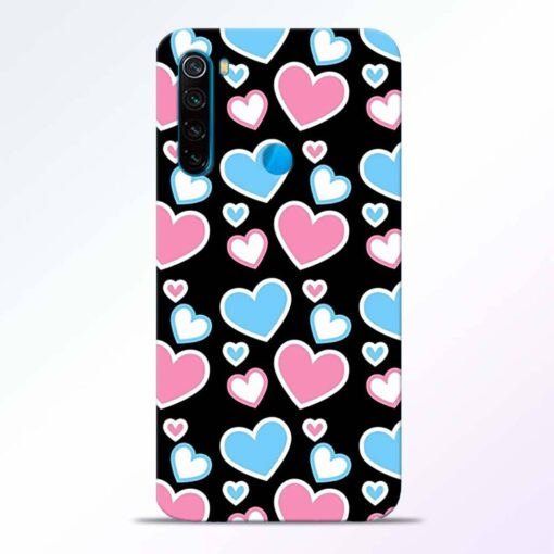 Pink Hearts Redmi Note 8 Back Cover