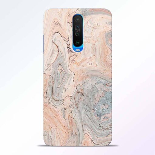 Pink Marble Poco X2 Back Cover