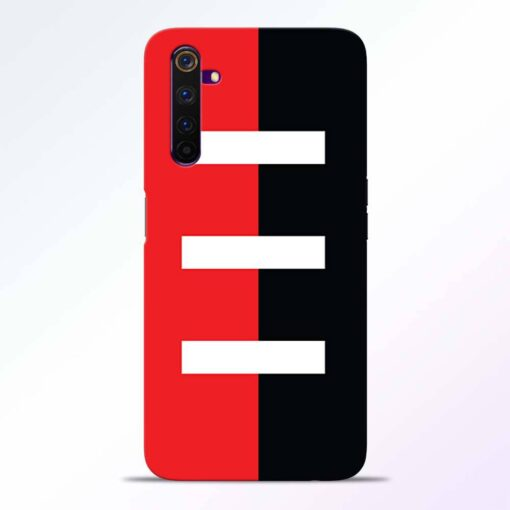 Red Black Realme 6 Back Cover