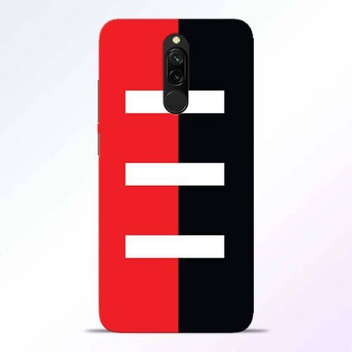 Red Black Redmi 8 Back Cover
