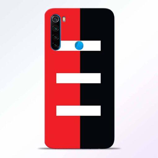 Red Black Redmi Note 8 Back Cover