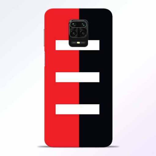 Red Black Redmi Note 9 Pro Back Cover