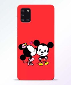 Red Cute Mouse Samsung Galaxy A31 Mobile Cover - CoversGap
