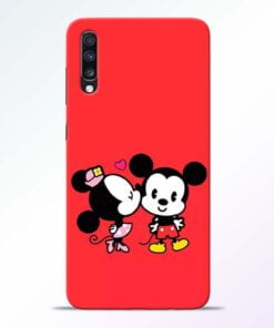 Red Cute Mouse Samsung Galaxy A70 Mobile Cover - CoversGap