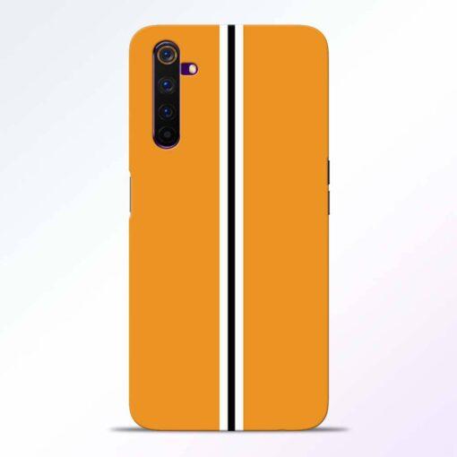 Single Stripes Realme 6 Pro Back Cover