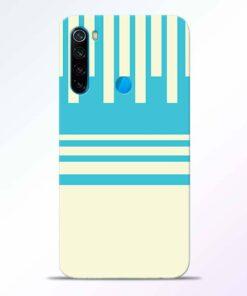 Sky Blue Pattern Redmi Note 8 Back Cover