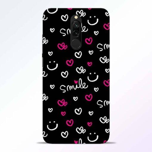 Smile Heart Redmi 8 Back Cover