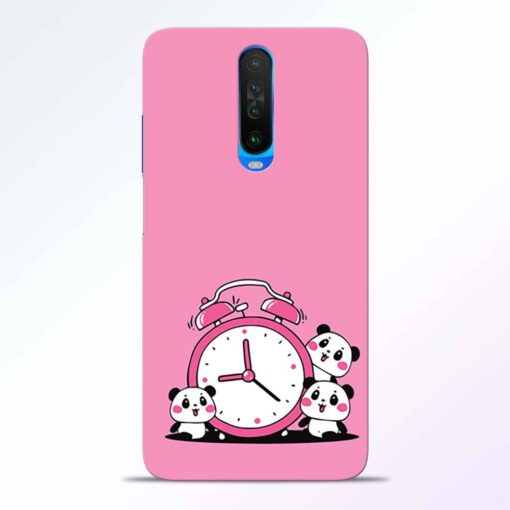Smiling Clock Poco X2 Back Cover