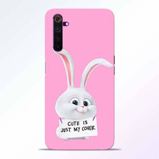 Snowball Bunny Realme 6 Back Cover