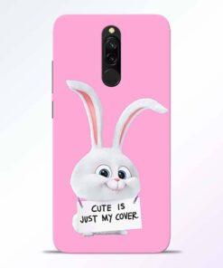 Snowball Bunny Redmi 8 Back Cover