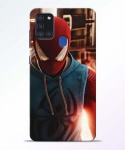 SpiderMan Eye Samsung Galaxy A21s Mobile Cover - CoversGap