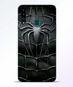 Spiderman Web Samsung Galaxy A20s Mobile Cover - CoversGap