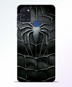 Spiderman Web Samsung Galaxy A21s Mobile Cover - CoversGap
