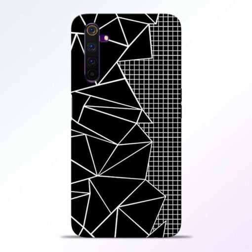 Stencil Pattern Realme 6 Back Cover