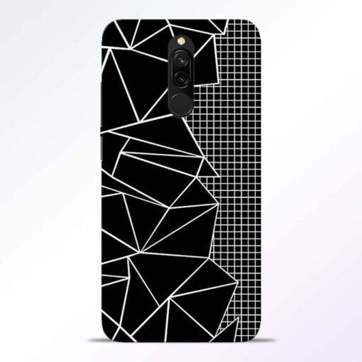 Stencil Pattern Redmi 8 Back Cover