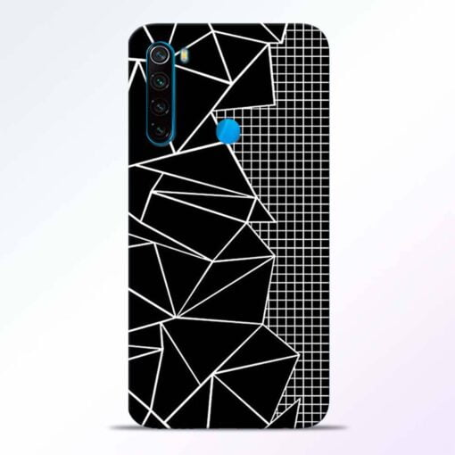 Stencil Pattern Redmi Note 8 Back Cover