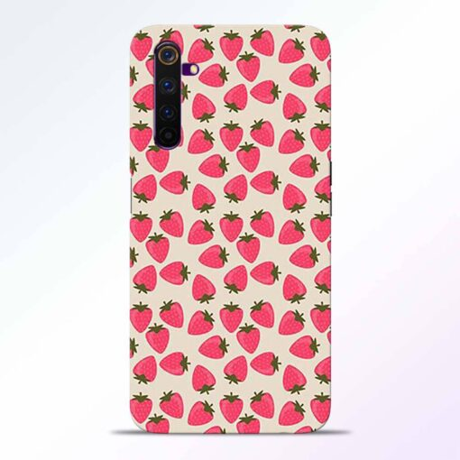 Strawberry Realme 6 Pro Back Cover