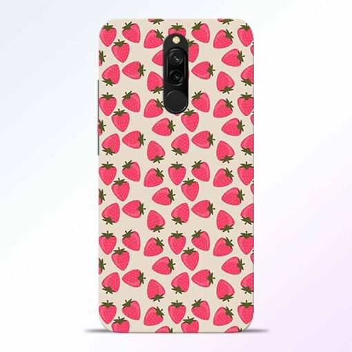 Strawberry Redmi 8 Back Cover
