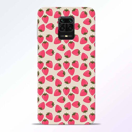 Strawberry Redmi Note 9 Pro Back Cover