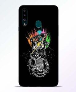 Thanos Hand Samsung Galaxy A20s Mobile Cover - CoversGap